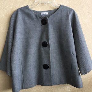 Worthington black and white large Petite blazer